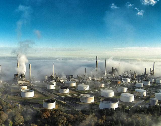 Fawley Refinery in the New Forest