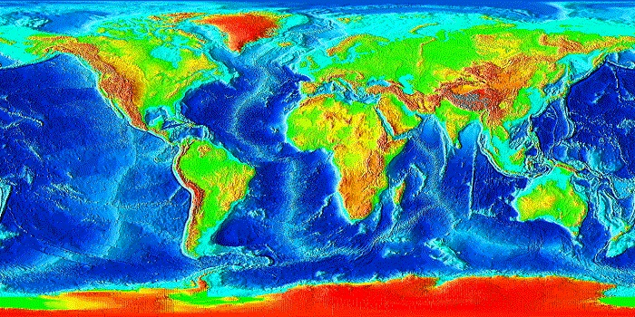 Global Relief Map