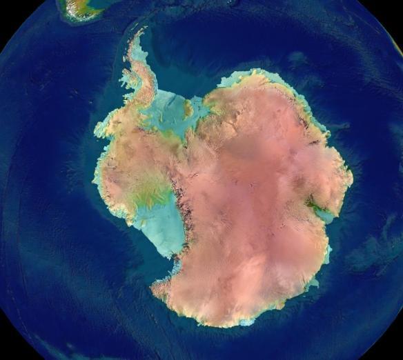 Antartica - screenshot from NASA's globe software World Wind using a public domain layer