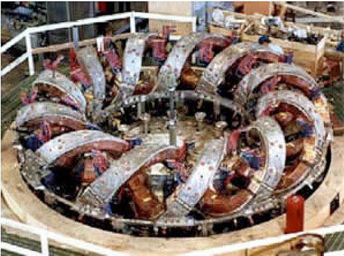 Experimental counter-coiling of nuclear fusion reactor
