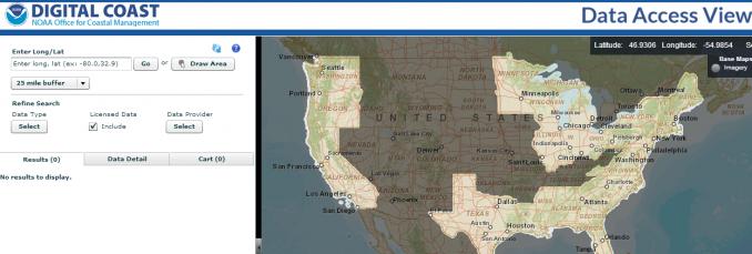 Digital Coast LiDAR Data Viewer