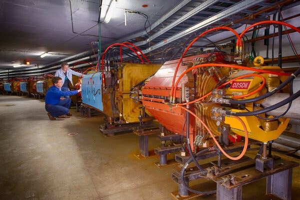 Inspecting the Muon g-2 ring in 2013.