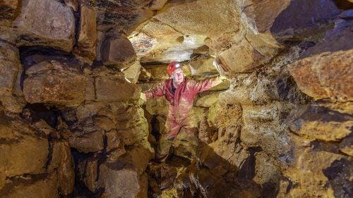 John Ackerman in Ackerman's Cave