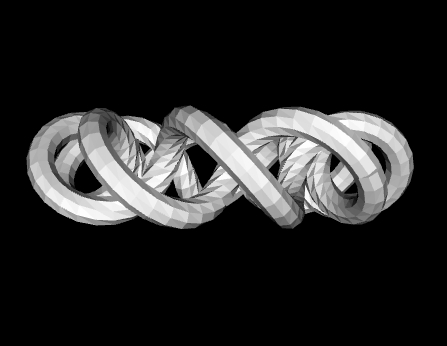 Continuous toroidal knot with 9 windings