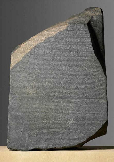 The Rosetta Stone. (Trustees of the British Museum/CC BY NC SA 4.0)