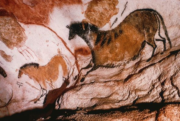 The Lascaux cave in Lascaux, France are another example of ancient art