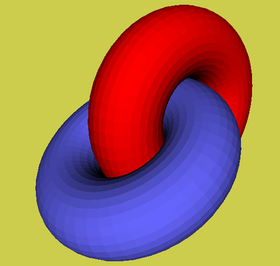 Dynamic virtual reality model of intertwined tori